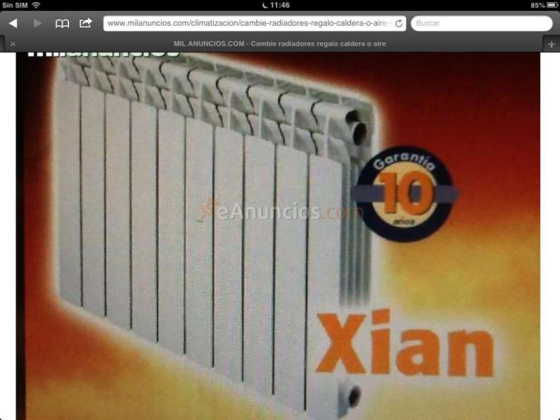Necesita cambiar caldera radiadores o aire 1044262 - Radiadores de aire ...