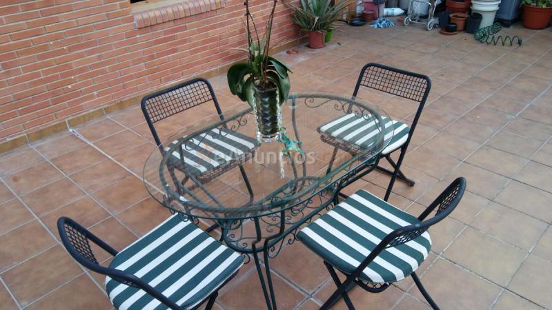 Mesa para jardin terraza 4sillas cojines 1613709 - Cojines para jardin ...